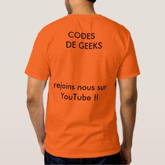 T-SHIRT CODES DE GEEK