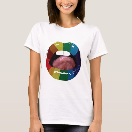 T-shirt Colorful Mouth