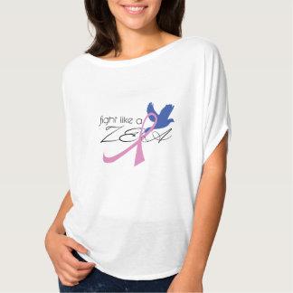 T-shirt combat comme une chemise de conscience de cancer