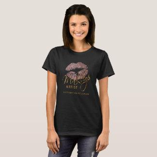 T-shirt Composez les lèvres poussiéreuses de scintillement