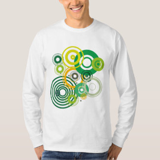 T-shirt composition with circles