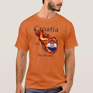 T-shirt Coupe du monde - Croatie contre. Le monde