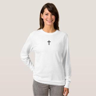 T-shirt Croix simple (noir)