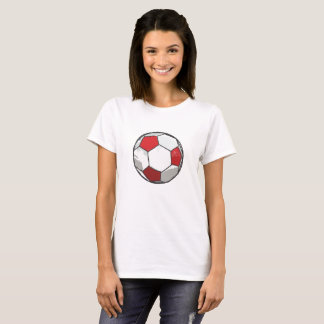 T-shirt Croquis rouge de ballon de football