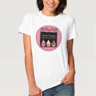 T-shirt d'affaires de boulangerie de signe de