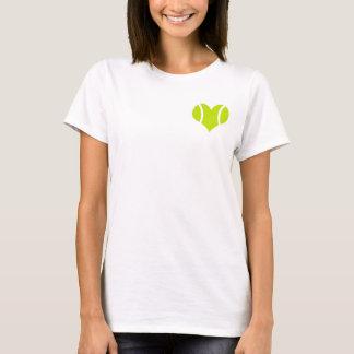 T-shirt d'amour de balle de tennis