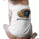 T-shirt d'animal familier de chien de boxeur t-shirts pour animaux domestiques