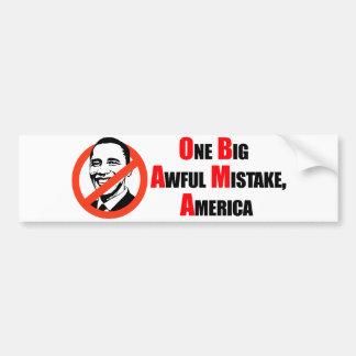 T-shirt d'Anti-Obama - un grand misake terrible Am Autocollant De Voiture