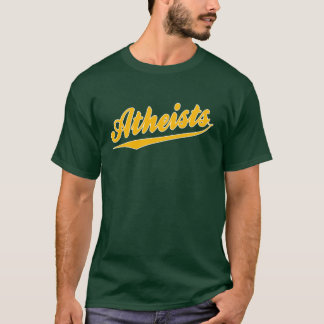 T-shirt d'athée d'équipe de style de base-ball