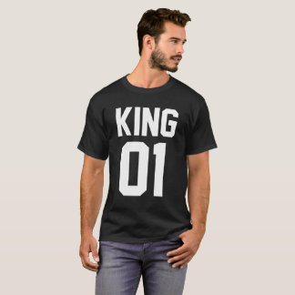 T-shirt de Amor for King Pairs and Queen in Black