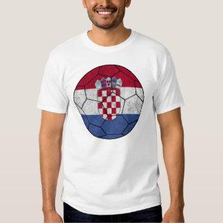 T-shirt de ballon de football de la Croatie