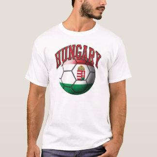 T-shirt de ballon de football de la Hongrie