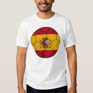 T-shirt de ballon de football de l'Espagne