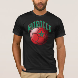 T-shirt de ballon de football du Maroc