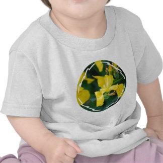 T-shirt de bébé d'iris jaune