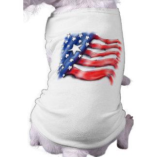 T-shirt de chien - conception américaine de drapea manteau pour toutous