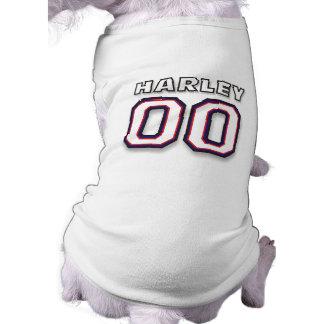 T-shirt de chien - HARLEY de NOM - 00 sports Jerse Vêtements Pour Animaux Domestiques