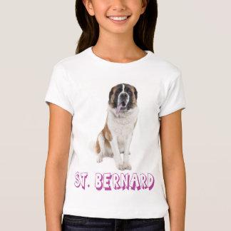 T-shirt de chiot de St Bernard d'amour