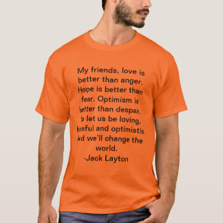 T-shirt de citation de Jack Layton