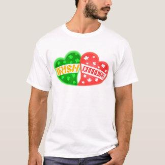 T-shirt de coeur du jour de St Patrick irlandais