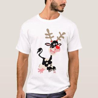 T-shirt de contrefaçon de renne de Noël
