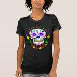 T-shirt de crâne de Dia de los Muertos Sugar de Wo