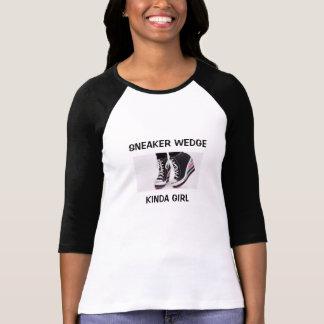 T-shirt de douille de la fille 3/4 de cale de