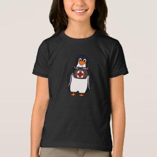 T-shirt de filles du pingouin de St Bernard