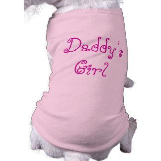 T-shirt de la fille du papa pour le chien du papa manteaux pour animaux domestiques