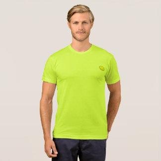T-shirt de mâle de jaune de peloton de citron