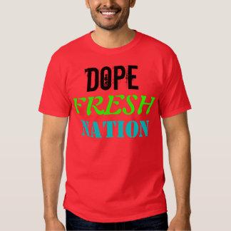 """T-shirt """"de nation fraîche de dopant"""""""