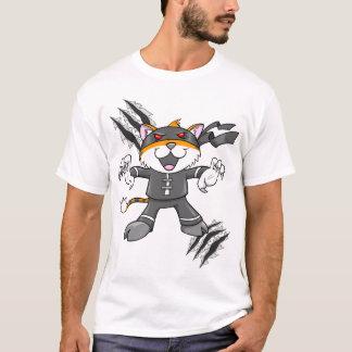 T-shirt de Ninja de guerrier de style de tigre de