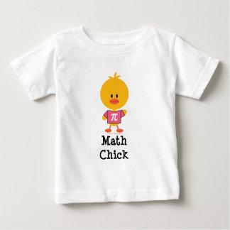 T-shirt de nourrisson de poussin de maths