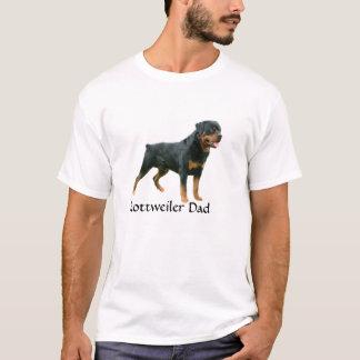 T-shirt de papa de rottweiler