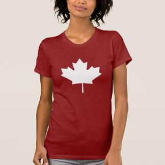 T-shirt de pictogramme de feuille d'érable