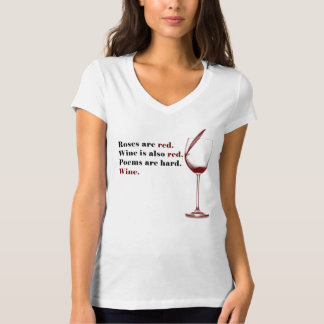 T-shirt de poème de vin