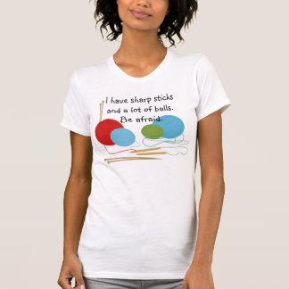 T-shirt de tricotage d humour