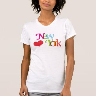 T-shirt de typographie de souvernir de New York