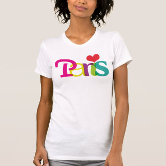 T-shirt de typographie de souvernir de Paris pour