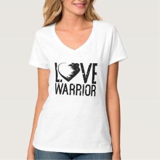 T-shirt de V-Cou de guerrier d'amour
