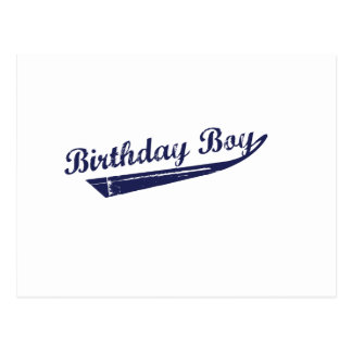 T-shirt d'équipe de garçon d'anniversaire carte postale