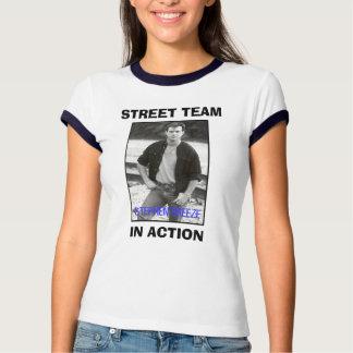 T-shirt d'équipe de rue de dames - customisé