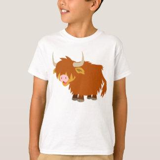 T-shirt des montagnes d'enfants de vache à bande