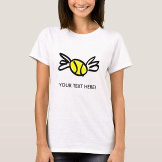 T-shirt Dessus customisé de tennis de spaghetti de dames