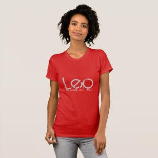 T-shirt d'horoscope de Lion en rouge rouge