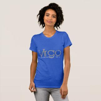 T-shirt d'horoscope de Vierge dans le bleu de
