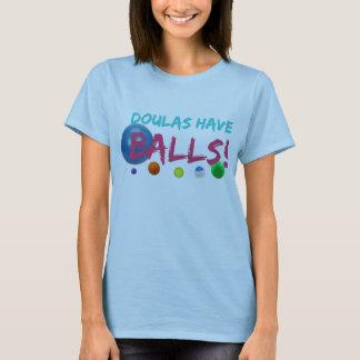 T-shirt Doulas ont la pièce en t de boules