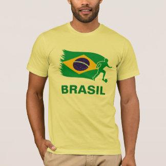 T-shirt Drapeau du football du Brésil