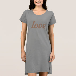 T-Shirt Dress - love