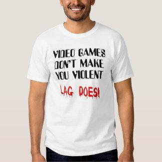 T-shirt drôle de violence de retard de jeu vidéo